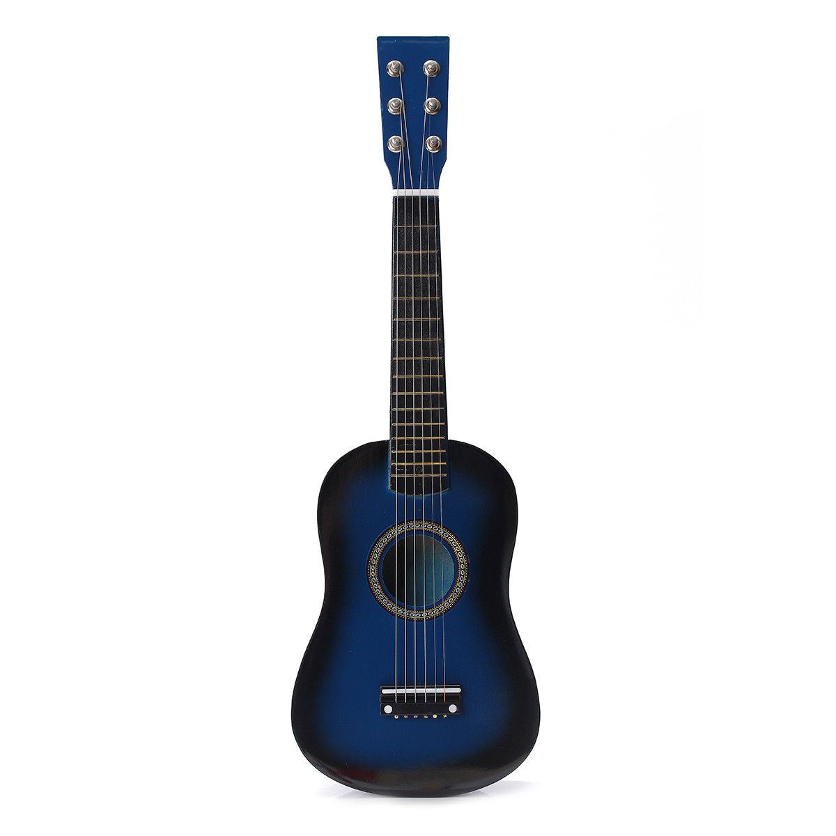"23"" Pink Blue Natural Wooden Beginners Mini Acoustic Guitars"