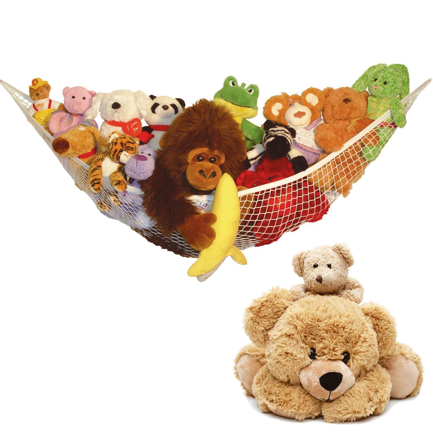 Large Soft Toy Hammock Mesh Net Teddy Bear Keep Baby Childs Bedroom Nursery Tidy