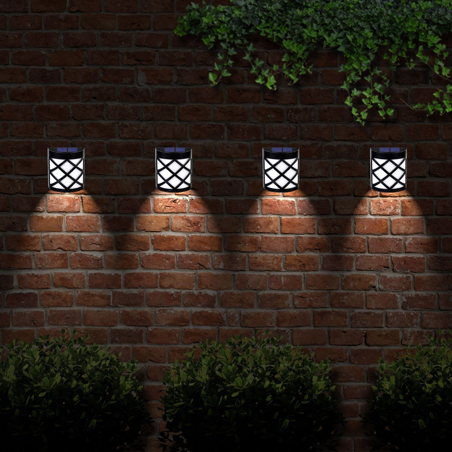 4 X Solalite? 6 Led Decorative Wireless Garden Solar Lights Weatherproof Outdoor Fence Lamps (4)