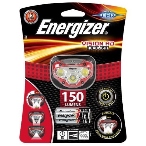Energizer Vision Hd Led Headlight Hands Free Headtorch 150 Lumen Headlamp