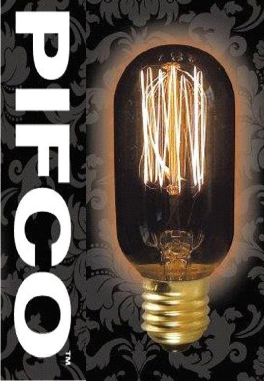 Pifco 45 40 Watt E27 Es Vintage Tubular Retro Light Bulbs