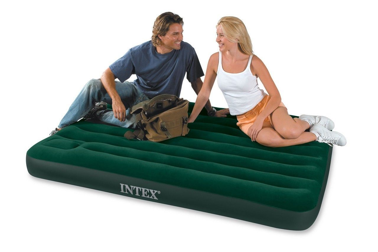 Intex Double Size Downy Airbed With Built In Foot Pump 66928