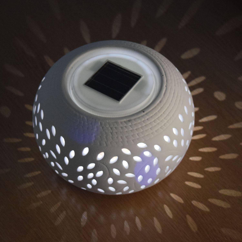 2 X Solalite White Led Outdoor Garden Solar Sun Powered Filigree Table Light