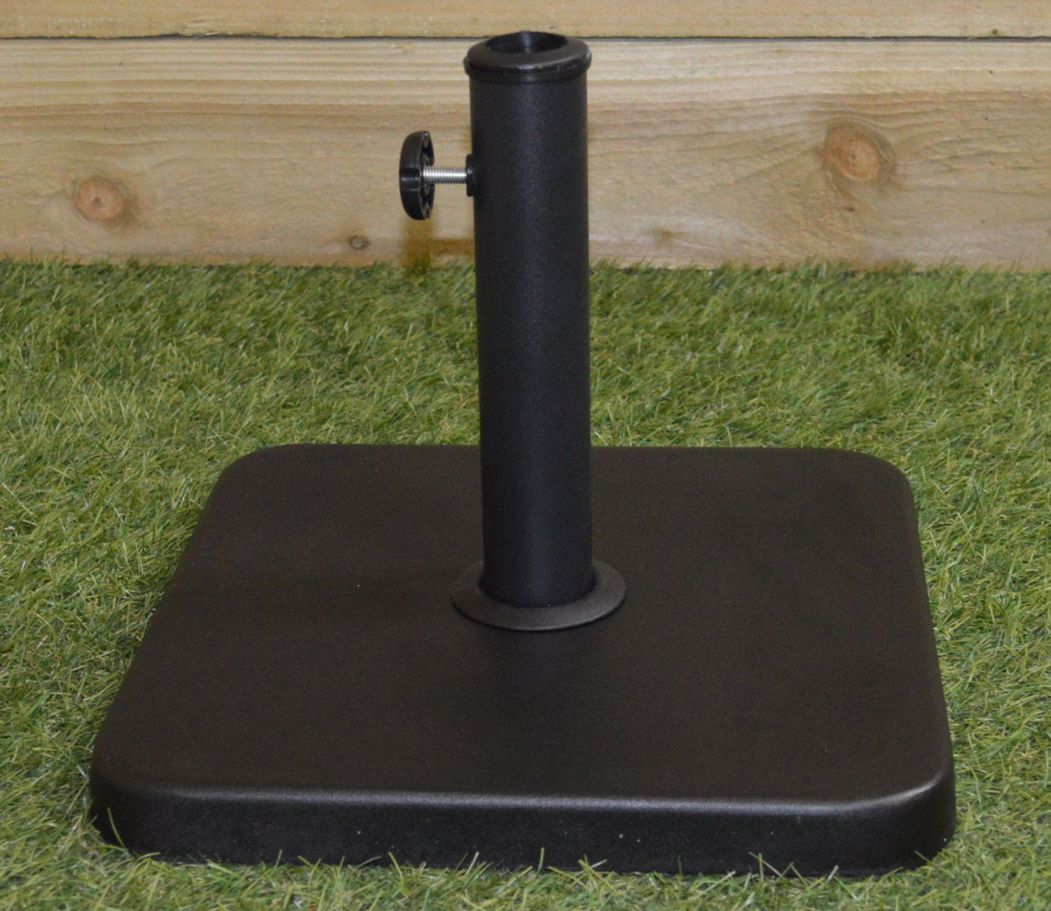 Kingfisher Square Garden Parasol Base Black