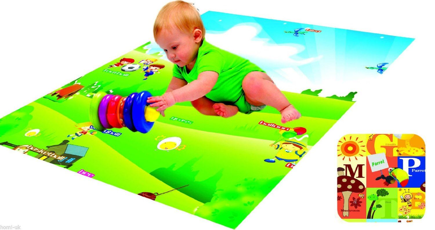 Play Mat 130 Cm X 180 Cm Rug Baby Toddler Children Kid Double Sided Foam Padded With Case