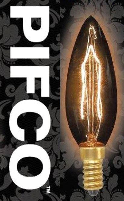 Pifco C35 40 Watt E14 Ses Viintage Candle Retro Light Bulbs