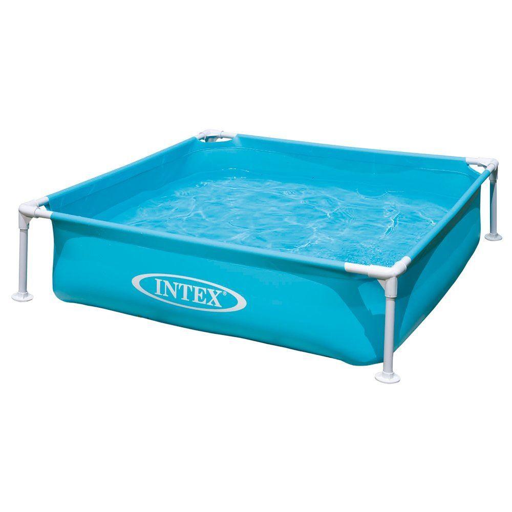 Intex Outdoor Mini Frame Pool - Blue 122 X 122 Cm