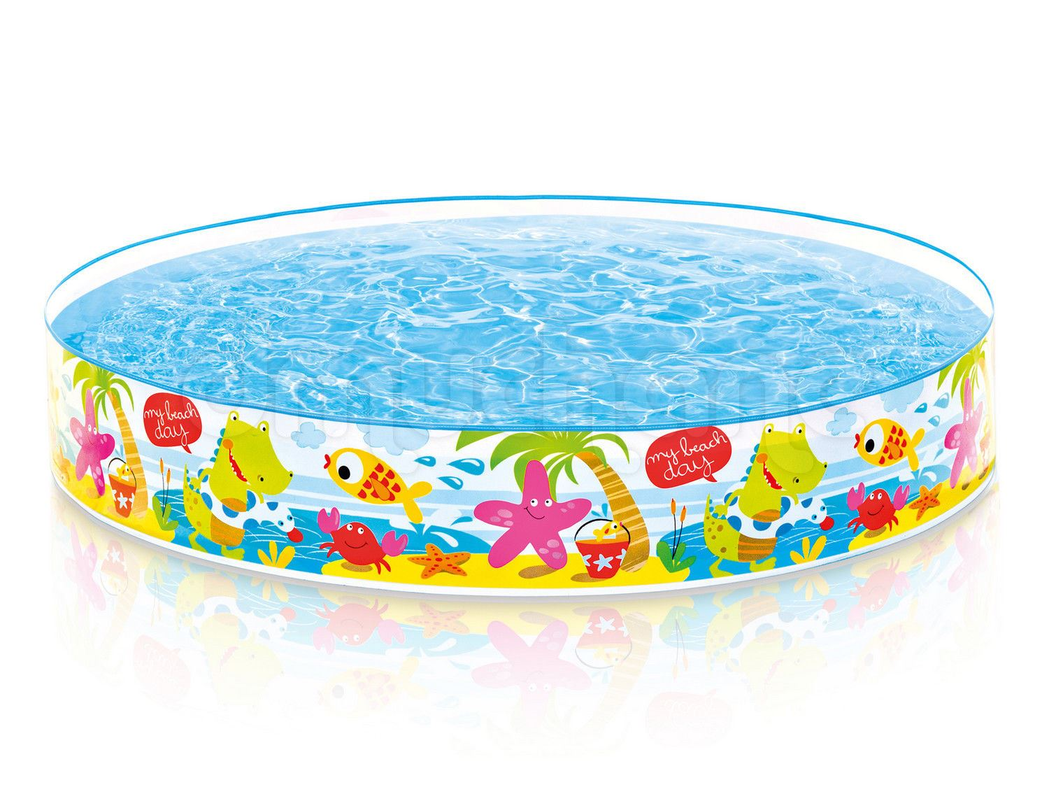 Intex 56451np 5 Ft X 10-inch Under The Palm Trees Snap Set Pool ?? Multi-colour