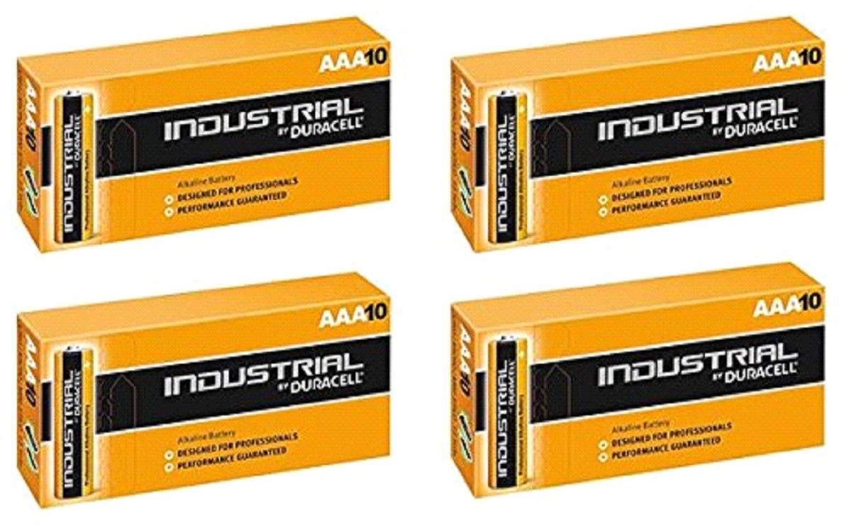 Duracell Aaa Industrial Battery 40 Alkaline Replaces Procell