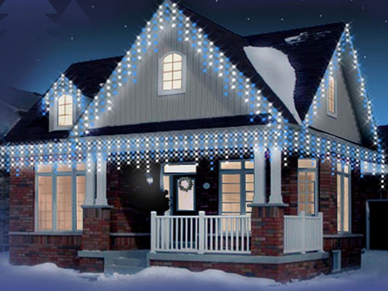 Item specifics - 240 LED WHITE+BLUE CHRISTMAS ICICLE SNOWING XMAS LIGHTS PARTY