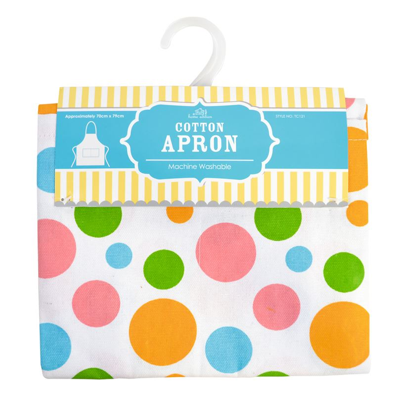 Ladies Kitchen Apron Spots Design Front Pocket 70 Cm X 79cm