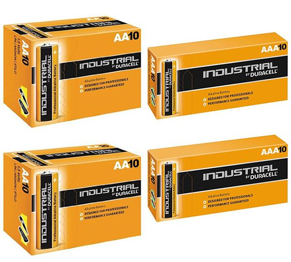 Duracell 20 X Aaa And 20 X Aa Industrial Battery Replaces Procell