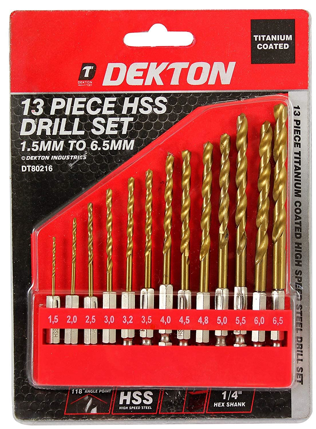 19 PCE HSS TITANIUM /& TCT MASONRY BRICK METAL WOOD DRILL BIT SET 633805