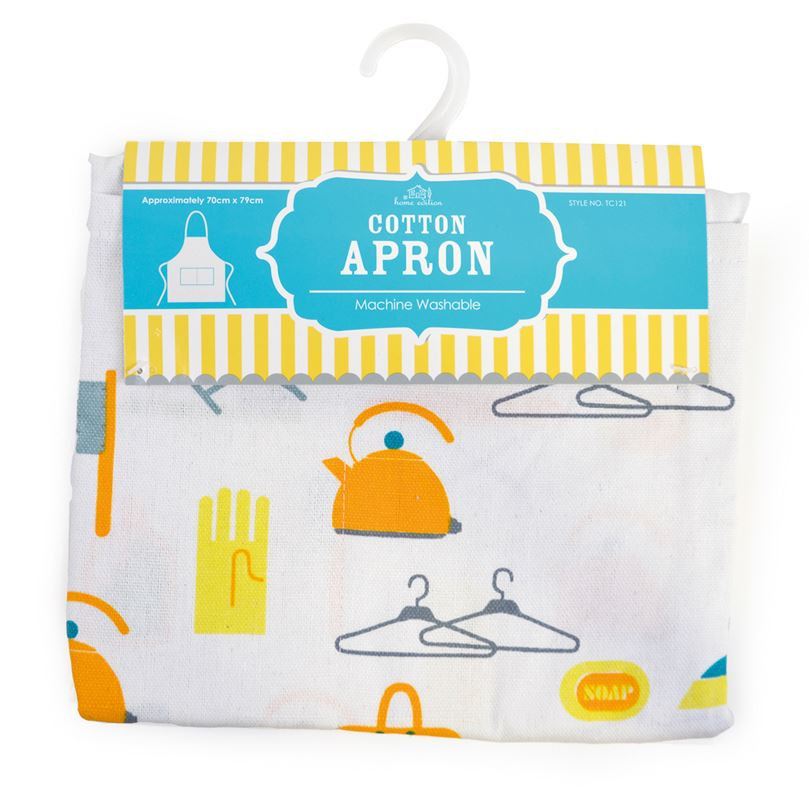 Ladies Kitchen Apron Kitchen Utility Design Front Pocket 70 Cm X 79cm
