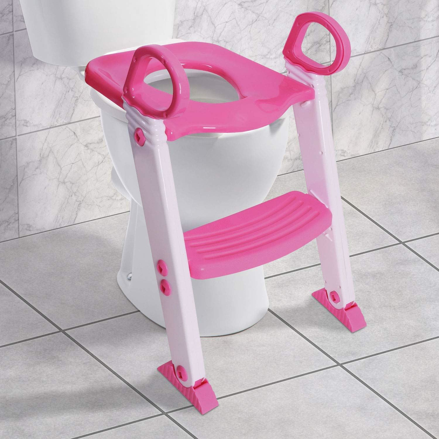 Tremendous Details About Baby Toddler Ladder Step Potty Training Toilet Seat Gripper Handles Pink Creativecarmelina Interior Chair Design Creativecarmelinacom