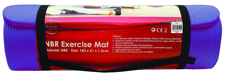 Redwood Leisure Unisex Nbr Exercise Mat 181x61x1.5 Cm Purple