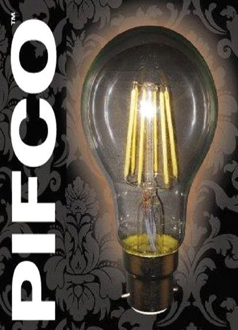 Pifco A60 6watt B22 Bayonet Cap Led Gls Globe Vintage Retro 600lm Energy Saving Bulbs