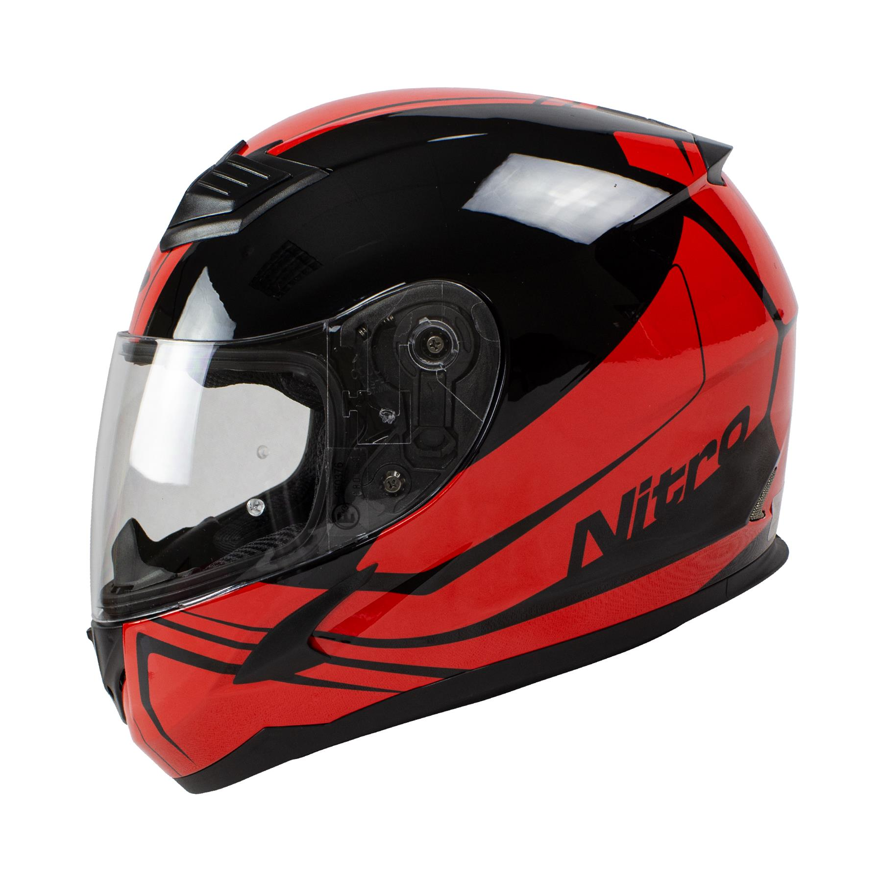Nitro-N2400-Rogue-Full-Face-Motorcycle-Motorbike-Crash-Helmet-Black-Blue-Red thumbnail 24