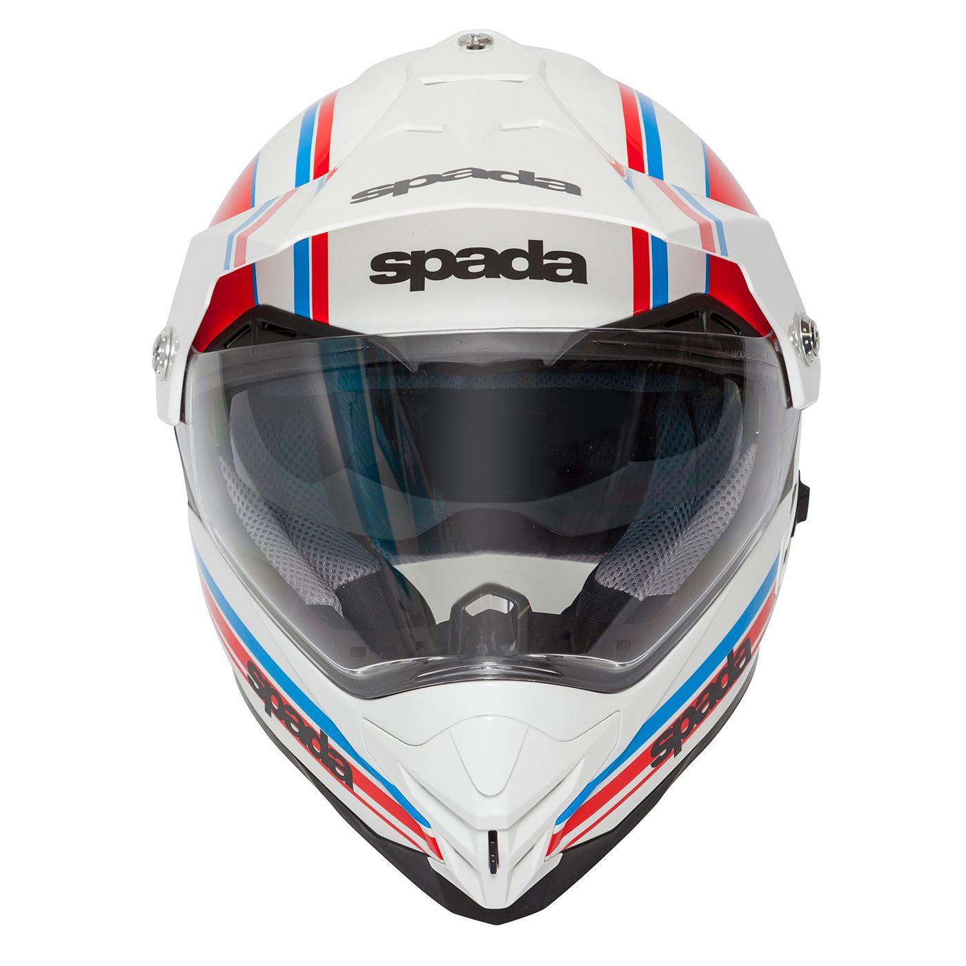Spada-Intrepid-Full-Face-Motorcycle-Off-Road-Adventure-Style-Helmet-Sun-Visor thumbnail 28