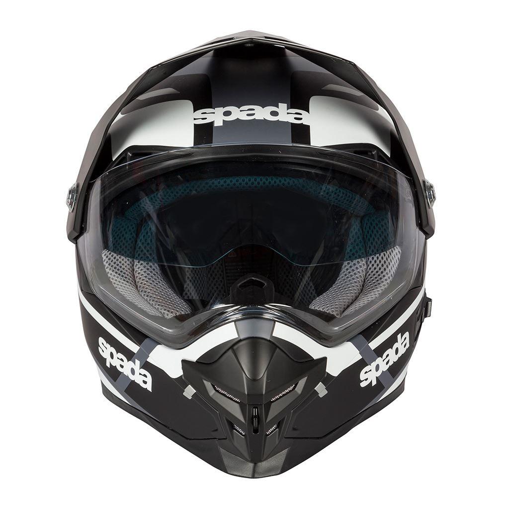 Spada-Intrepid-Full-Face-Motorcycle-Off-Road-Adventure-Style-Helmet-Sun-Visor thumbnail 14