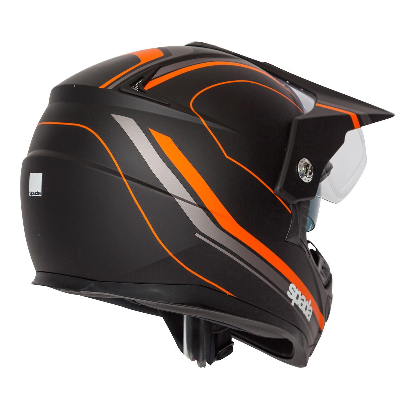 Spada-Intrepid-Full-Face-Motorcycle-Off-Road-Adventure-Style-Helmet-Sun-Visor thumbnail 23