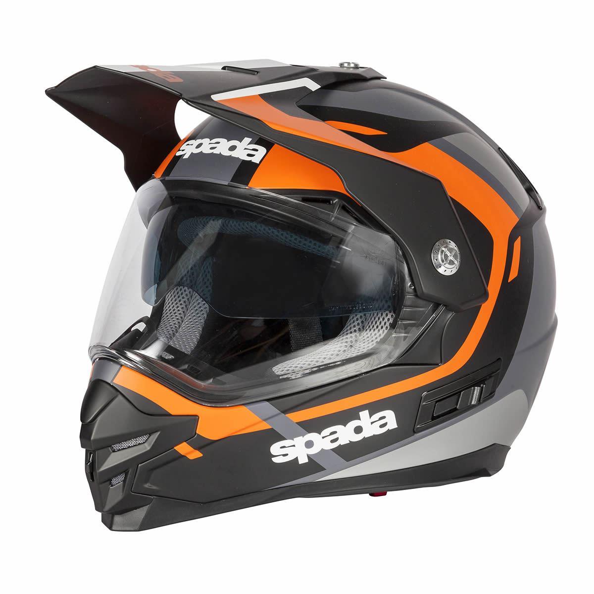 Spada-Intrepid-Full-Face-Motorcycle-Off-Road-Adventure-Style-Helmet-Sun-Visor thumbnail 18
