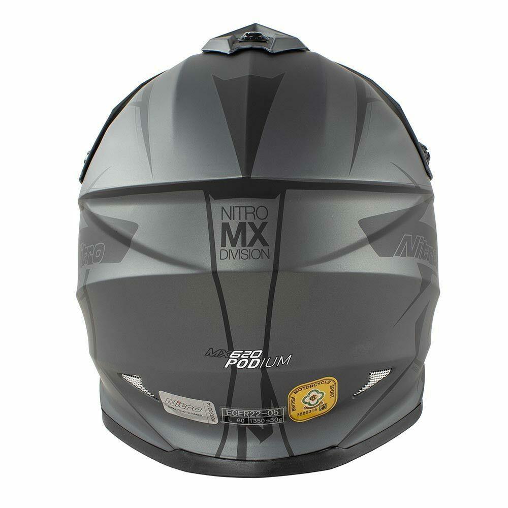 Nitro-MX620-Podium-MX-Motorcross-Motorcycle-Helmet-ATV-Enduro-ACU-Adult-Youth thumbnail 12