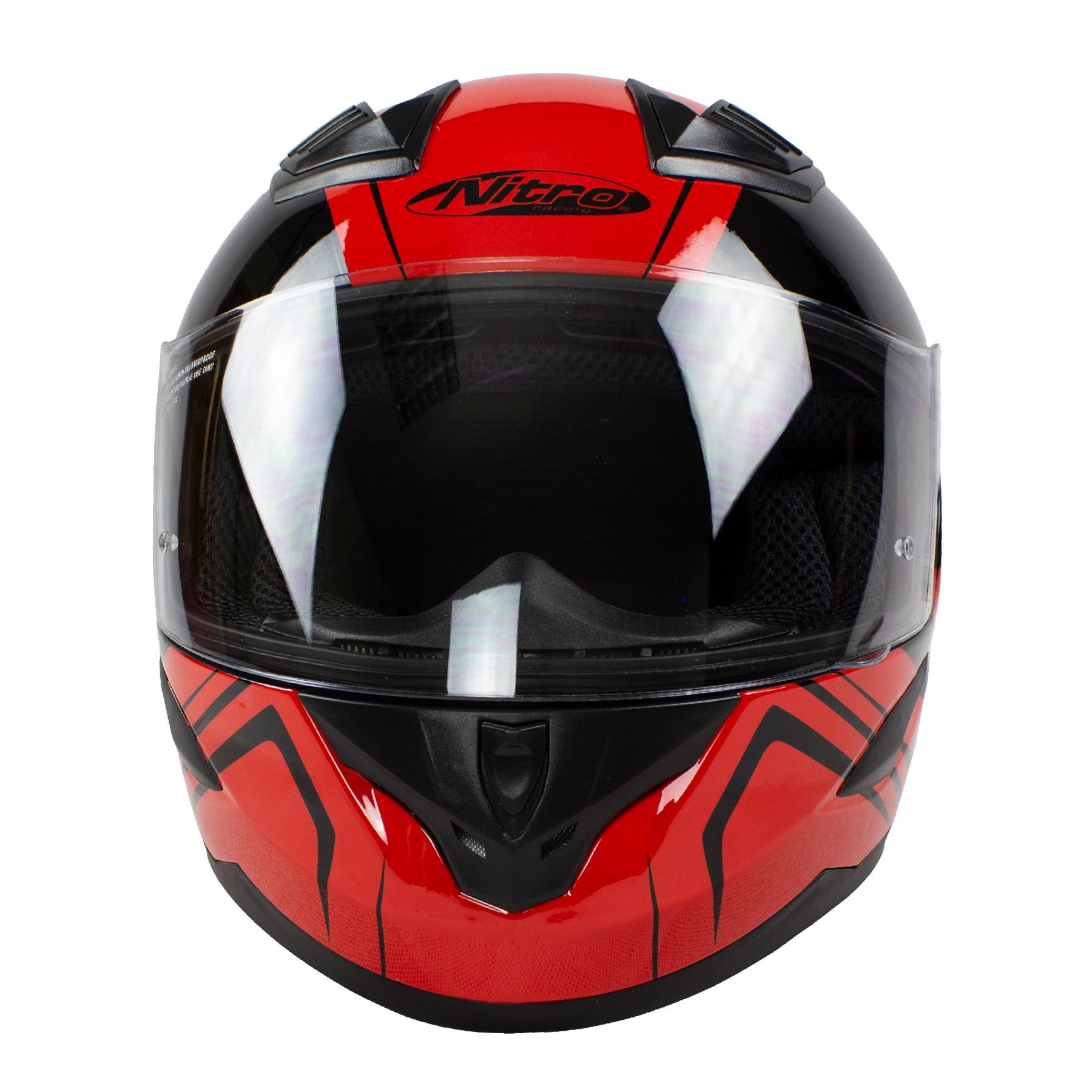 Nitro-N2400-Rogue-Full-Face-Motorcycle-Motorbike-Crash-Helmet-Black-Blue-Red thumbnail 23
