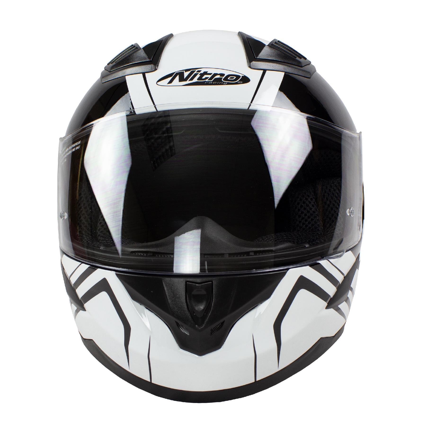 Nitro-N2400-Rogue-Full-Face-Motorcycle-Motorbike-Crash-Helmet-Black-Blue-Red thumbnail 28