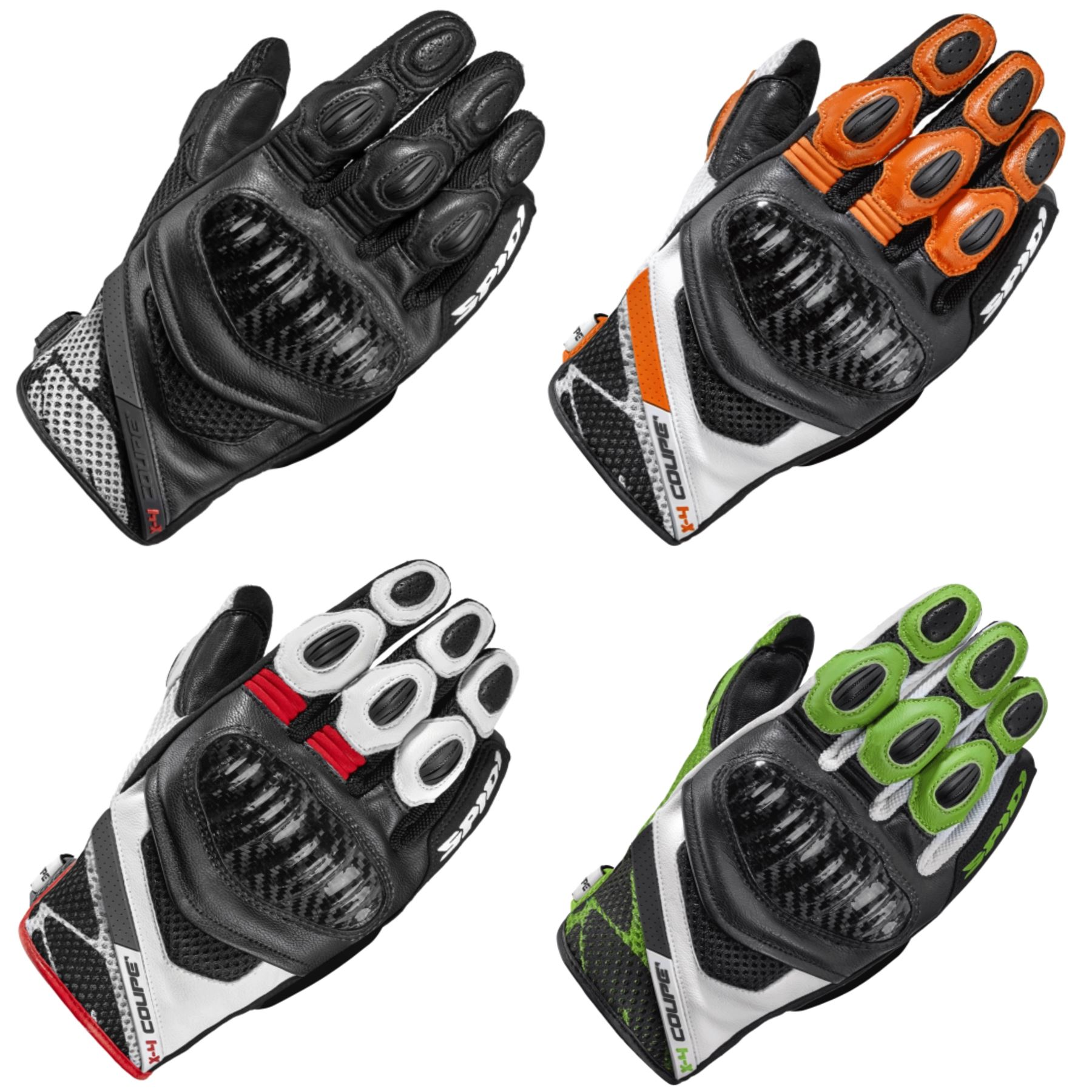 Spidi-X4-Coupe-Textile-Mix-Vented-CE-Motorcycle-Gloves-Touchscreen-CE