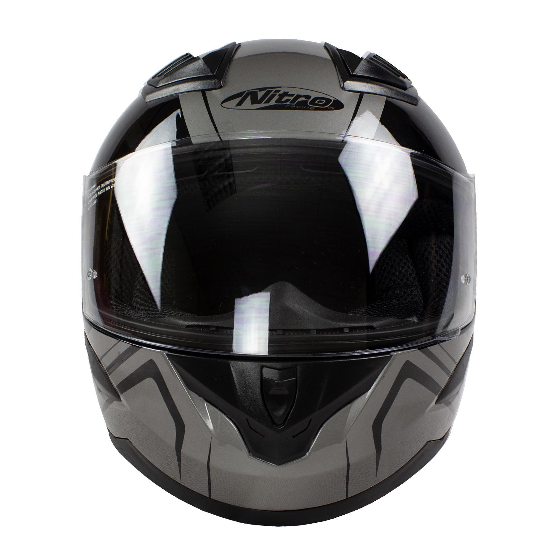 Nitro-N2400-Rogue-Full-Face-Motorcycle-Motorbike-Crash-Helmet-Black-Blue-Red thumbnail 18