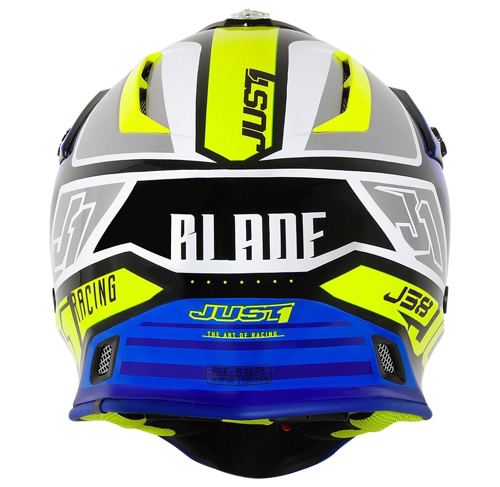 Just1-J38-Blade-Helmet-Motocross-Enduro-MX-ATV-Motorcycle-Off-Road-Full-Face-ACU thumbnail 17