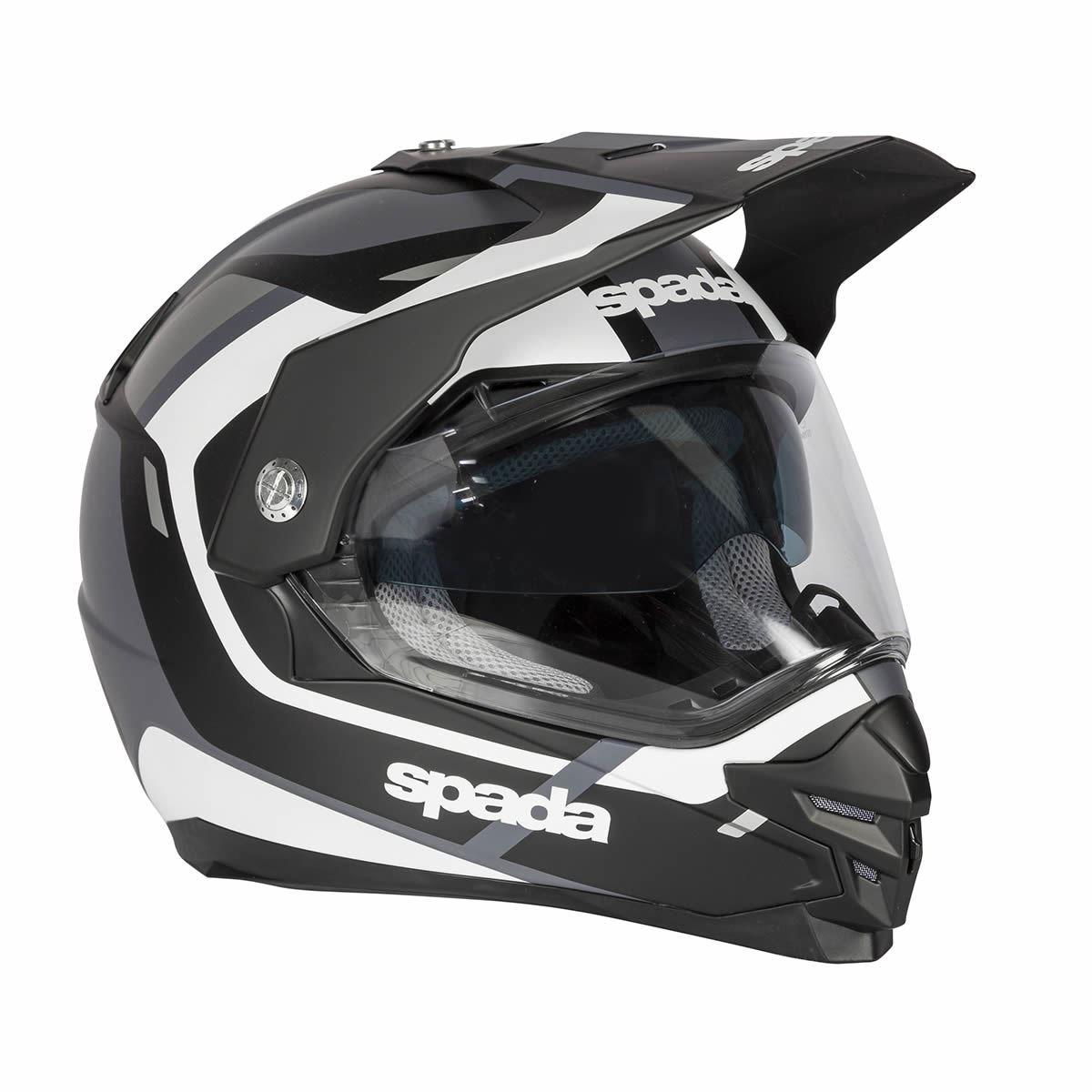Spada-Intrepid-Full-Face-Motorcycle-Off-Road-Adventure-Style-Helmet-Sun-Visor thumbnail 15
