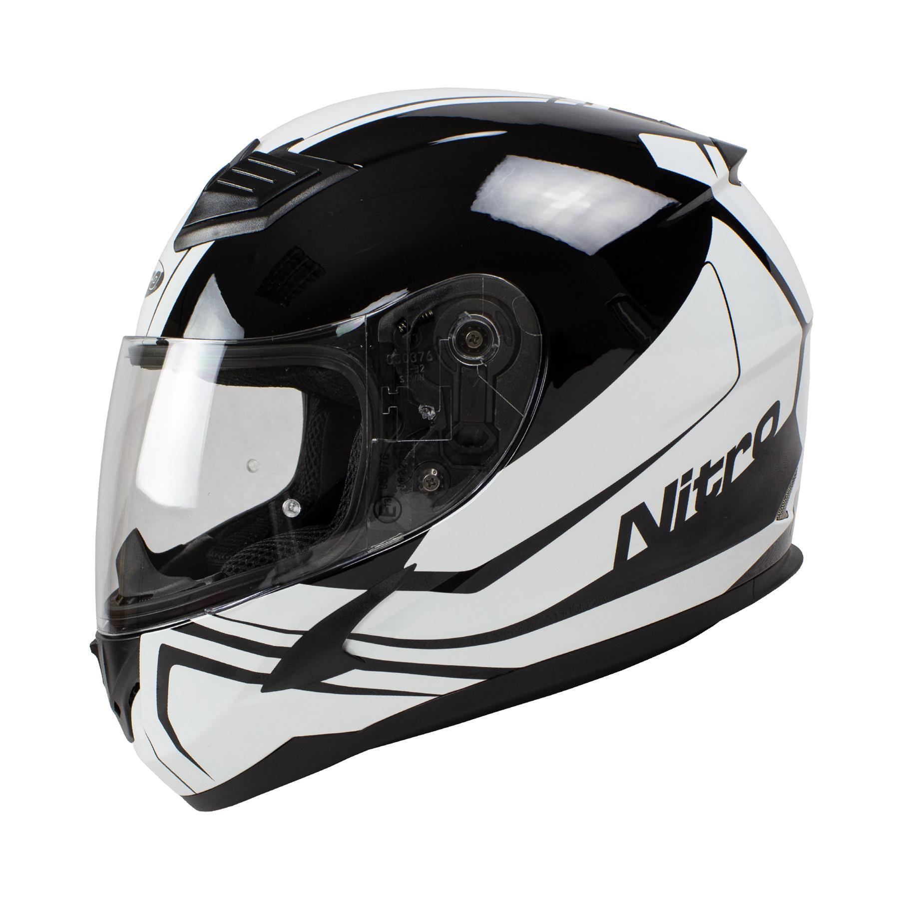 Nitro-N2400-Rogue-Full-Face-Motorcycle-Motorbike-Crash-Helmet-Black-Blue-Red thumbnail 29