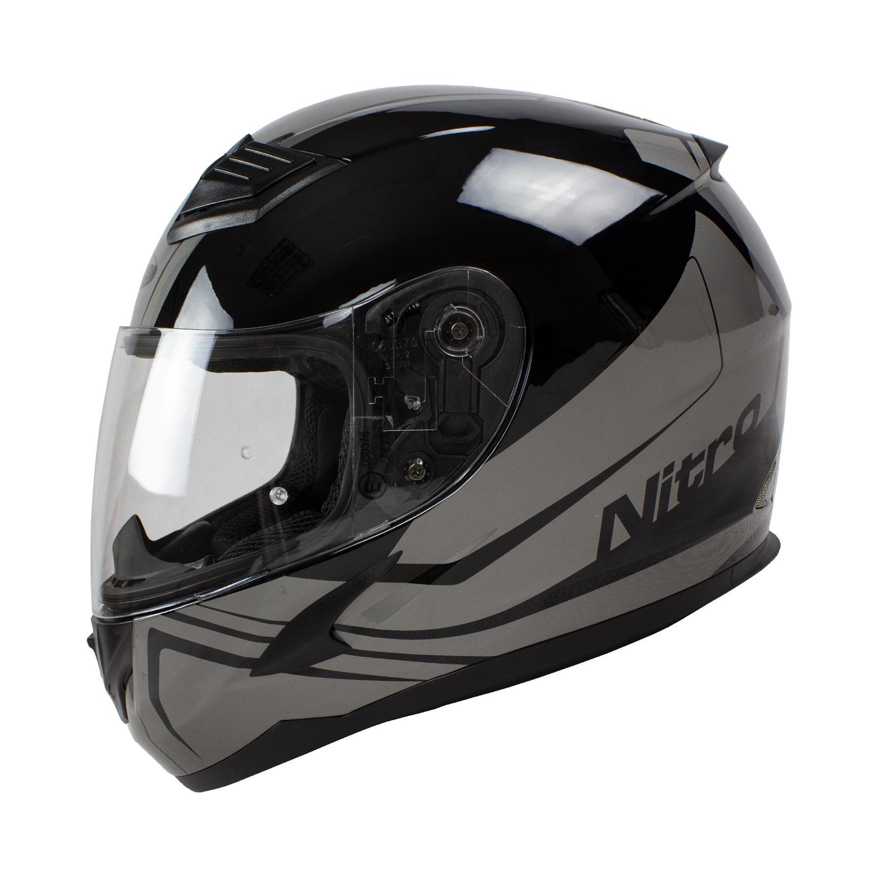 Nitro-N2400-Rogue-Full-Face-Motorcycle-Motorbike-Crash-Helmet-Black-Blue-Red thumbnail 19