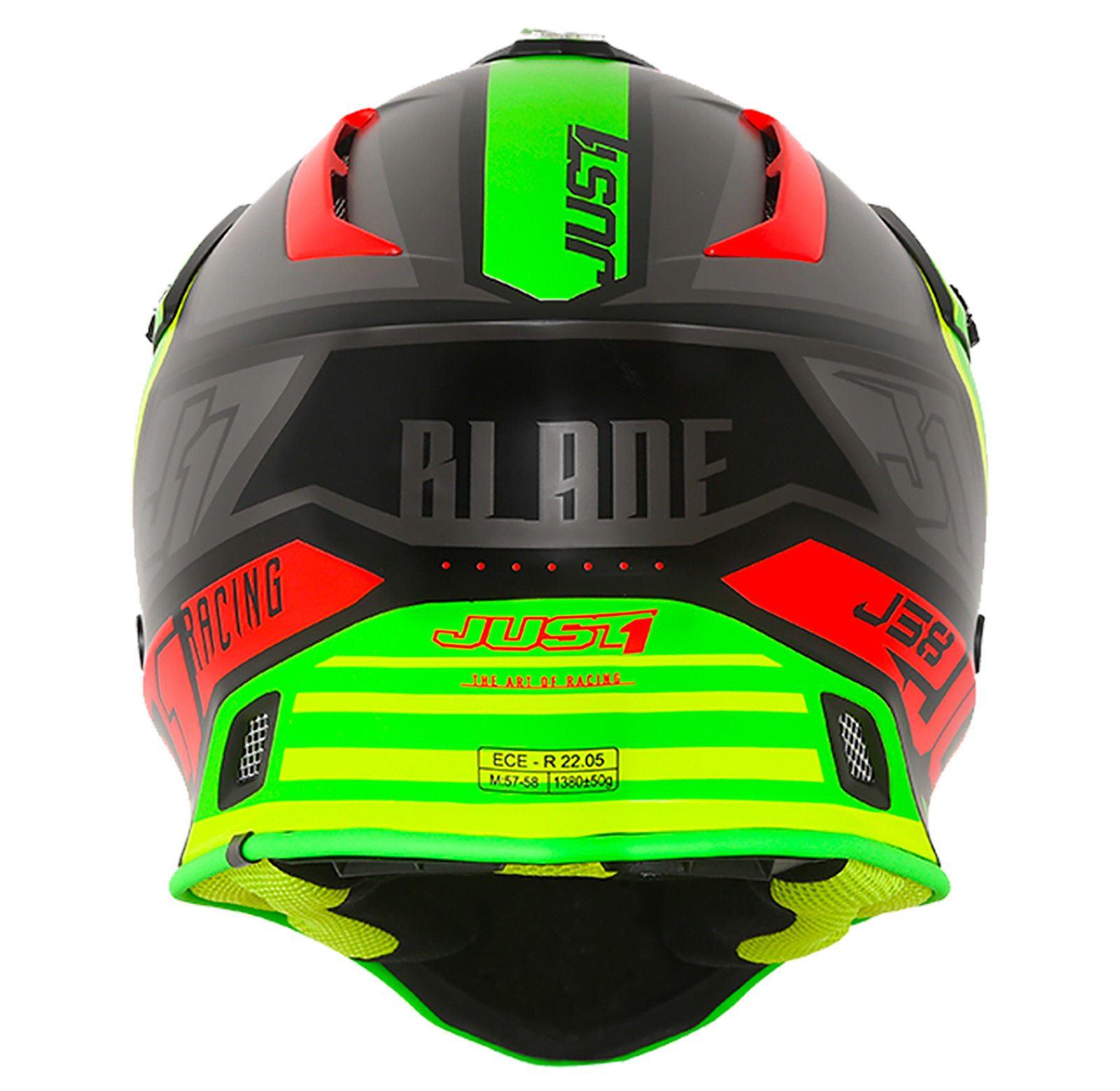 Just1-J38-Blade-Helmet-Motocross-Enduro-MX-ATV-Motorcycle-Off-Road-Full-Face-ACU thumbnail 29