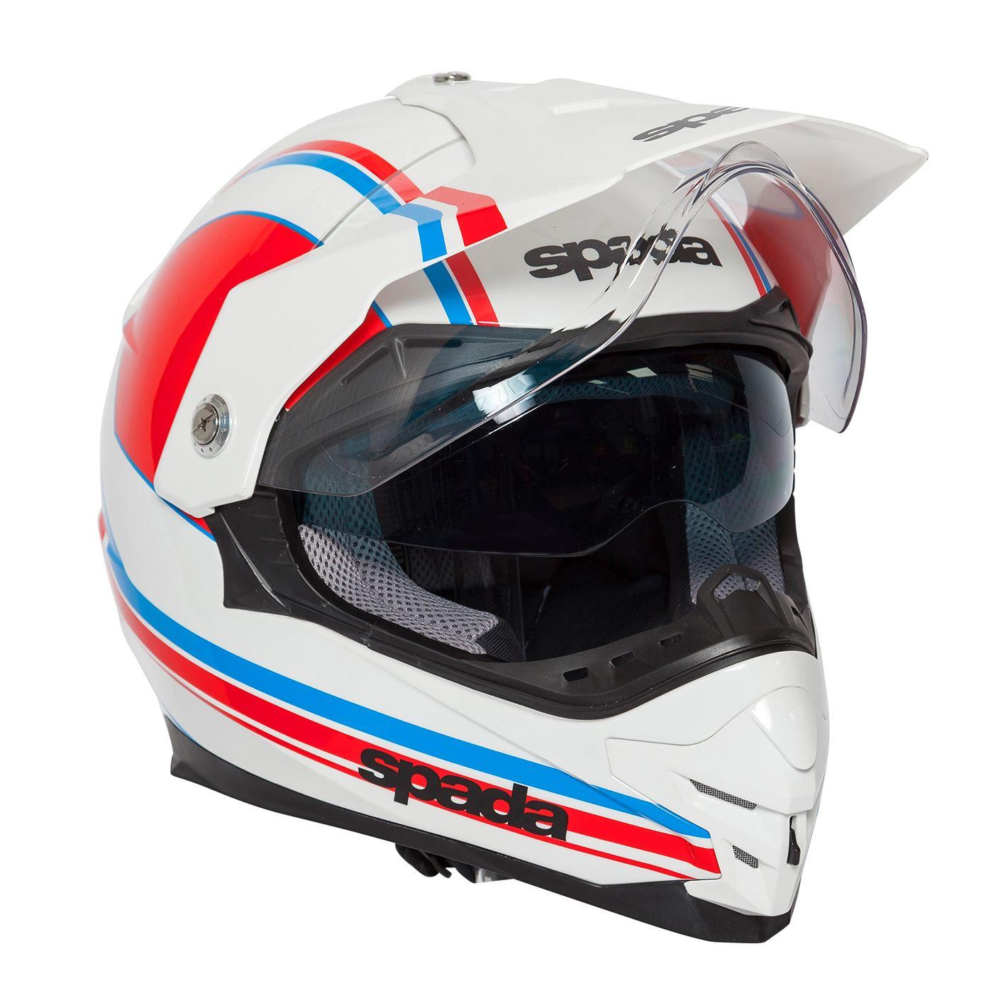 Spada-Intrepid-Full-Face-Motorcycle-Off-Road-Adventure-Style-Helmet-Sun-Visor thumbnail 26