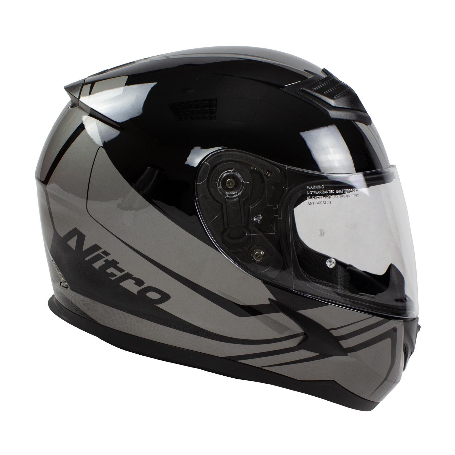 Nitro-N2400-Rogue-Full-Face-Motorcycle-Motorbike-Crash-Helmet-Black-Blue-Red thumbnail 20
