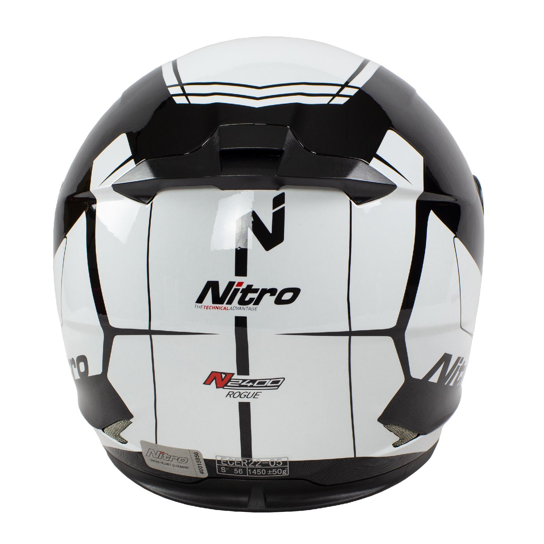Nitro-N2400-Rogue-Full-Face-Motorcycle-Motorbike-Crash-Helmet-Black-Blue-Red thumbnail 27