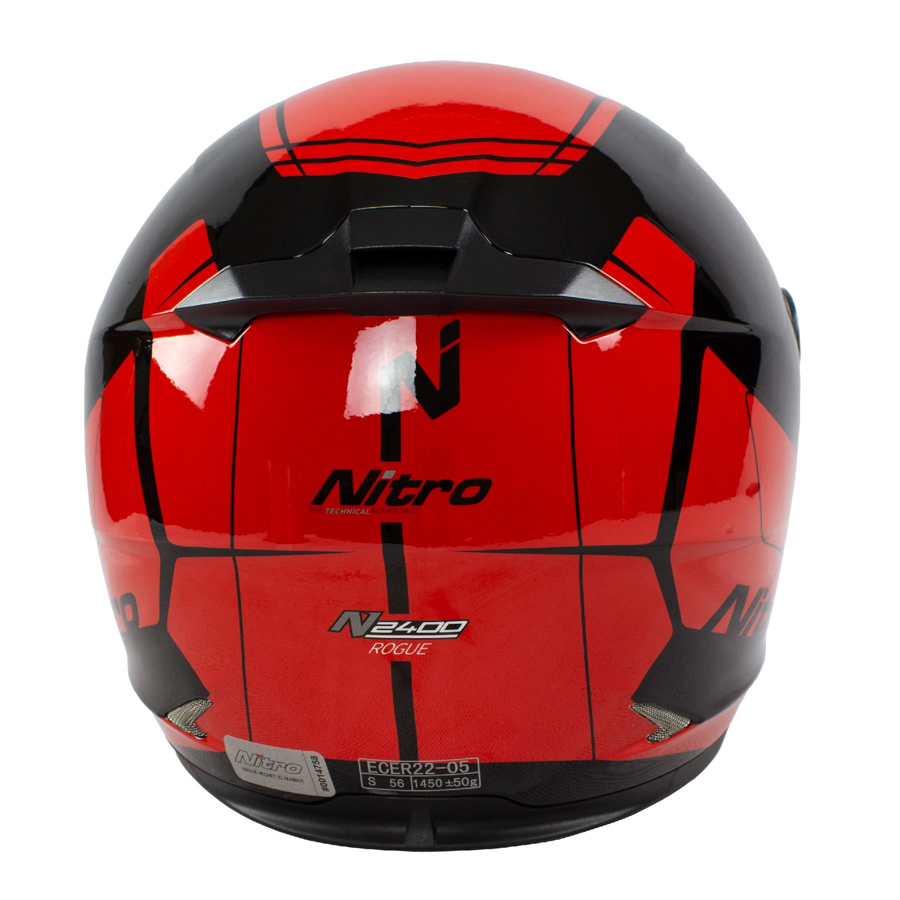 Nitro-N2400-Rogue-Full-Face-Motorcycle-Motorbike-Crash-Helmet-Black-Blue-Red thumbnail 22