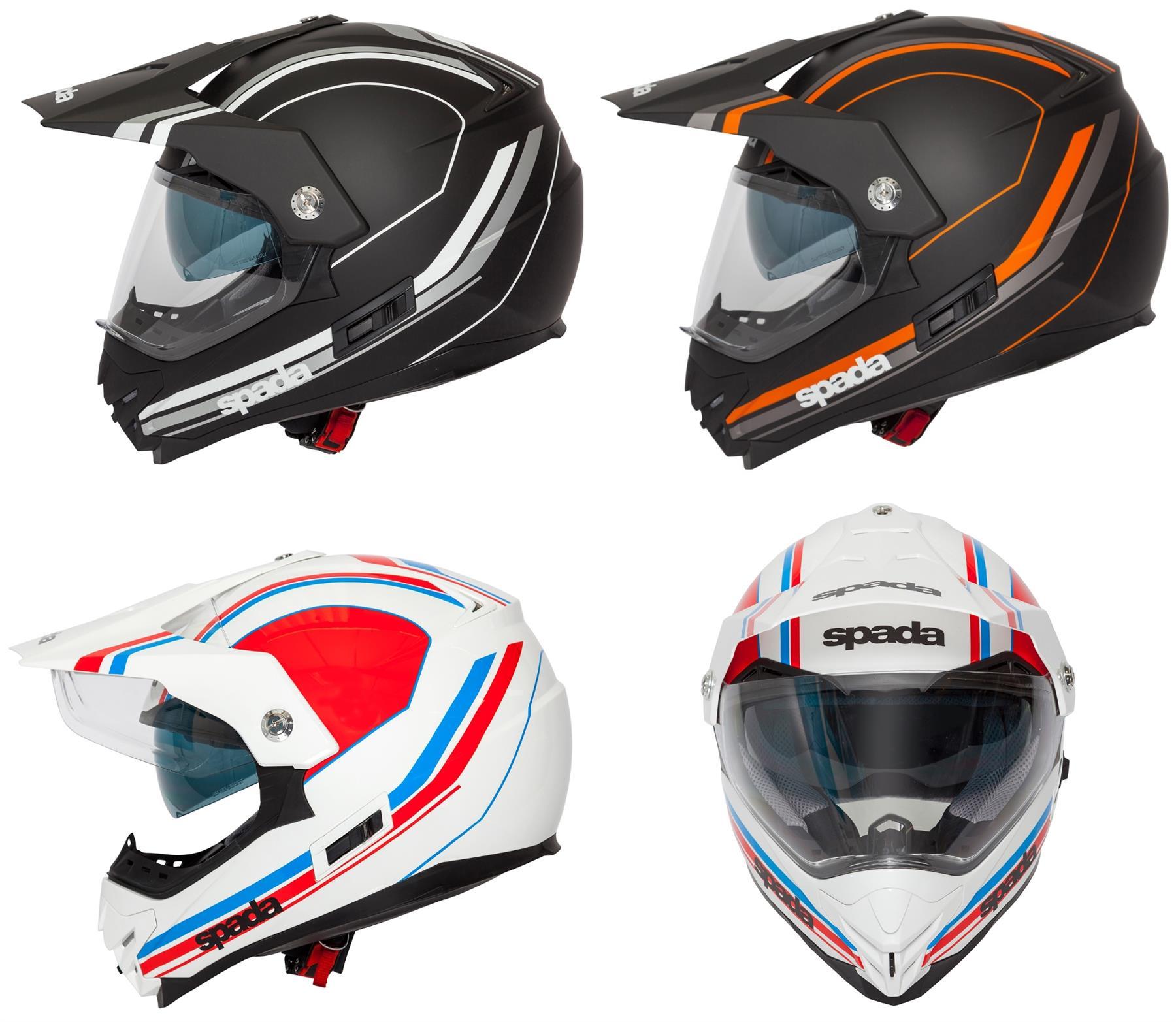 Spada Intrepid Adventure Motorcycle Helmet White//Black