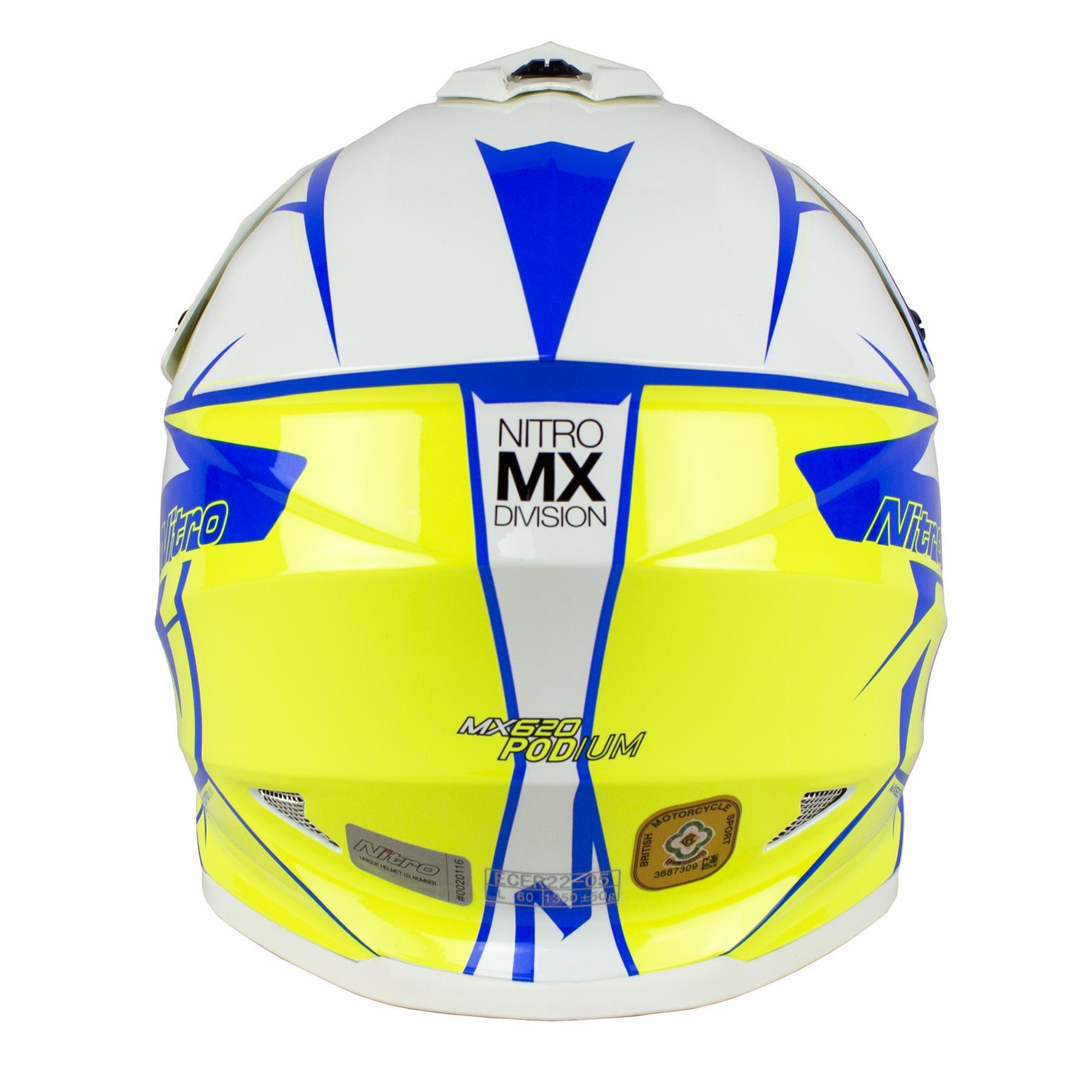 Nitro-MX620-Podium-MX-Motorcross-Motorcycle-Helmet-ATV-Enduro-ACU-Adult-Youth thumbnail 35