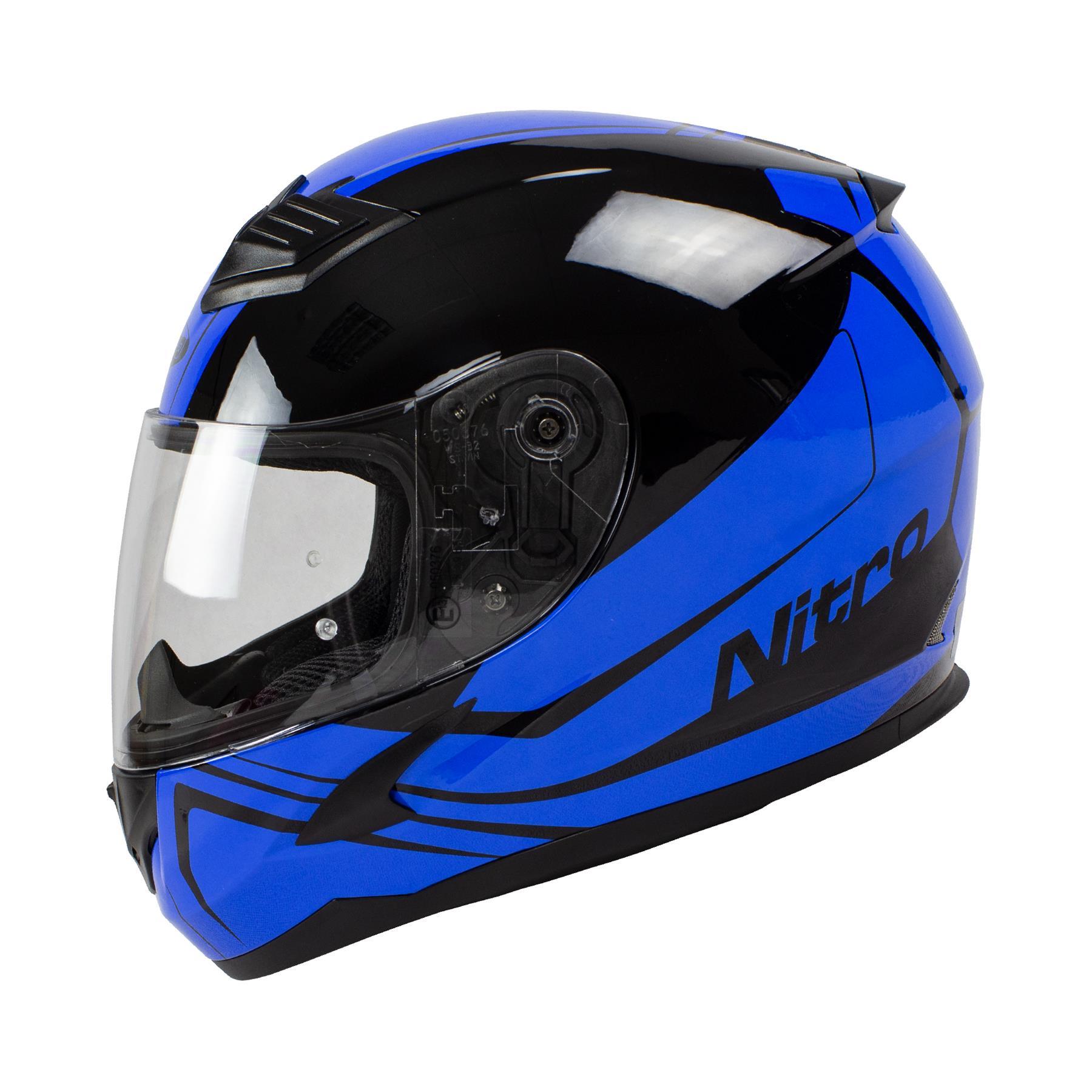 Nitro-N2400-Rogue-Full-Face-Motorcycle-Motorbike-Crash-Helmet-Black-Blue-Red thumbnail 14