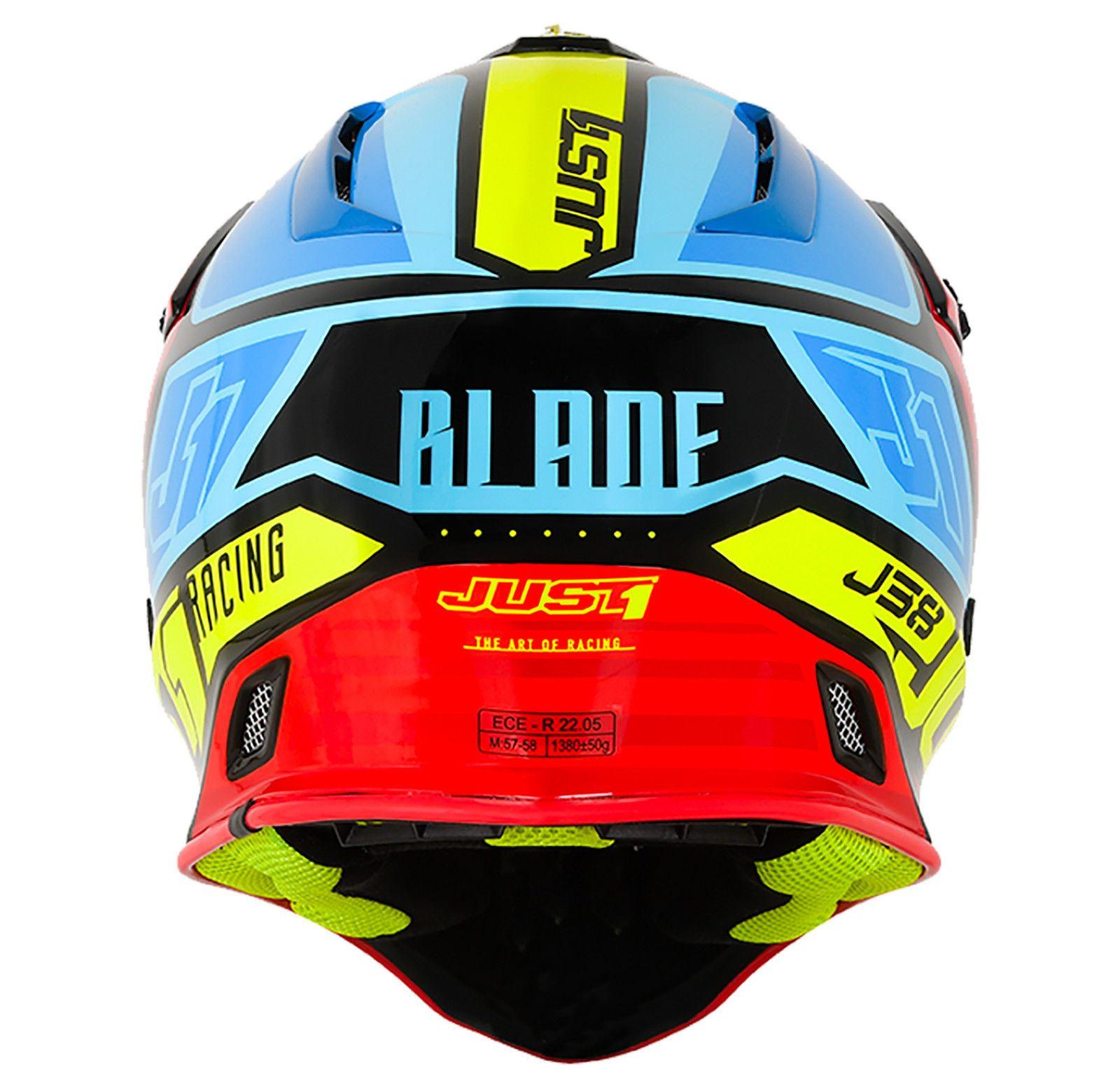 Just1-J38-Blade-Helmet-Motocross-Enduro-MX-ATV-Motorcycle-Off-Road-Full-Face-ACU thumbnail 13