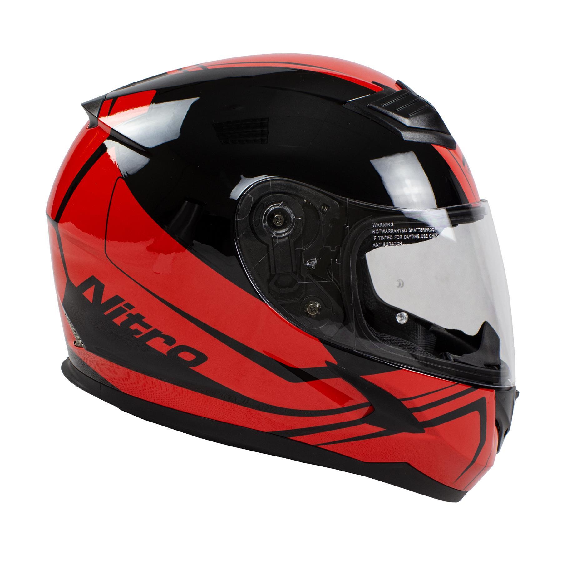 Nitro-N2400-Rogue-Full-Face-Motorcycle-Motorbike-Crash-Helmet-Black-Blue-Red thumbnail 25