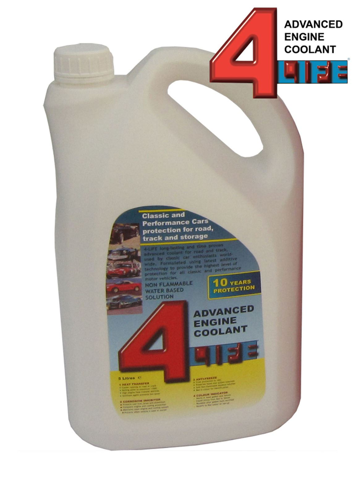 4 Life For Advanced Engine Coolant 4life Sports Classic Not Damage Waterless 5l