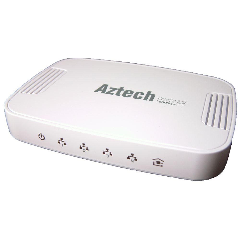 Aztech 4 Lan Port Desktop 500av Homeplug Ebay Home Plug Wiring The Hl125g Is A Av 500mbps With Gigabit Ethernet Switch It Provides No New Wires Data Communications To Any Room Using Existing Ac