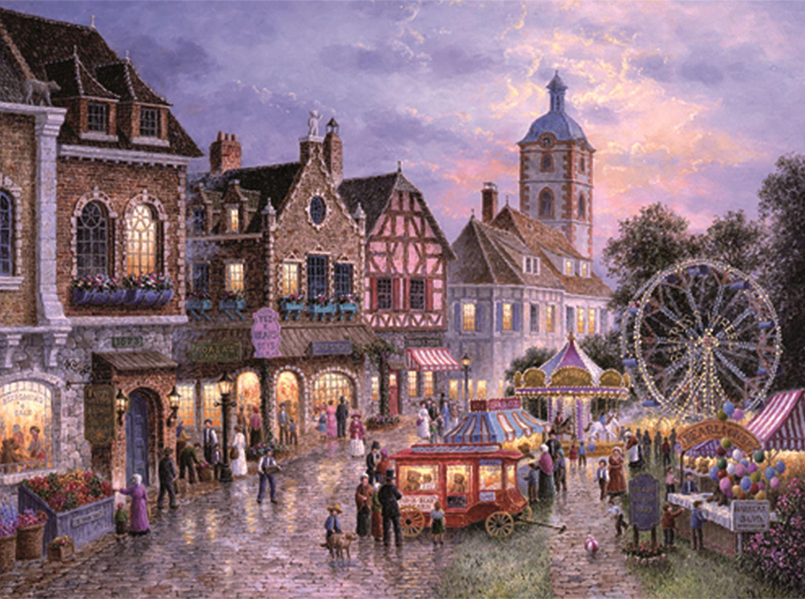 Trefl-300-500-1000-1500-2000-3000-4000-6000-Piece-Jigsaw-Puzzle-Landscapes-City thumbnail 129