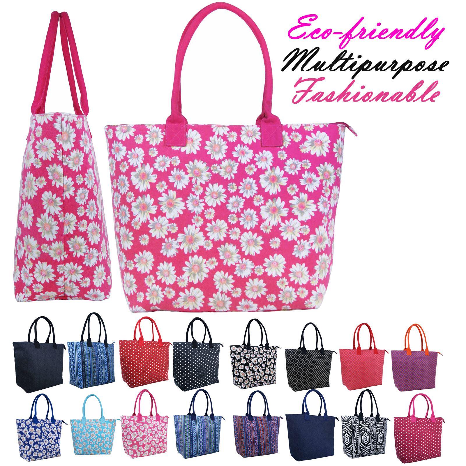 Ladies Outdoor Gear Canvas Shopper Aztec Handbag Tote Beach Spacious Bag 3154