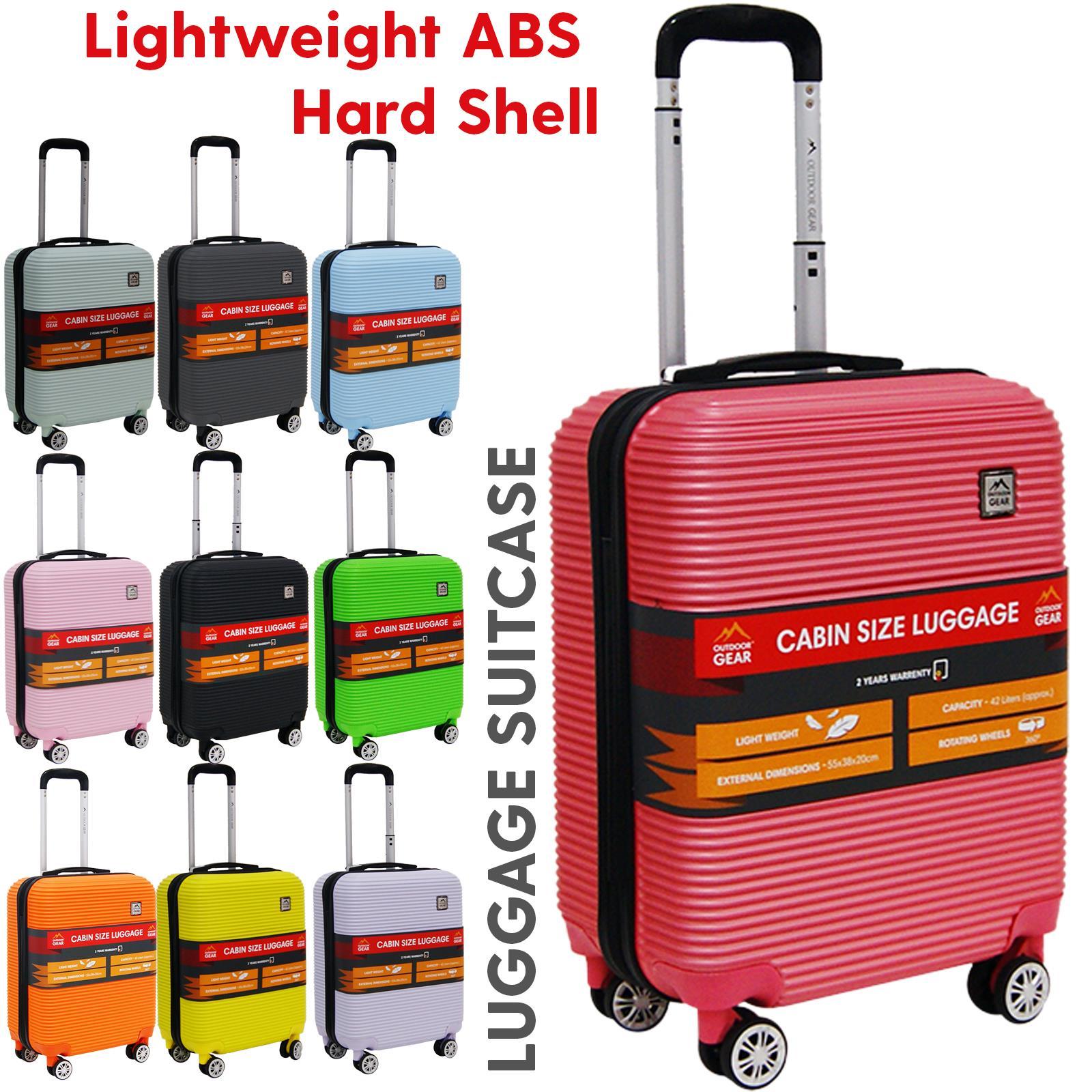 Lightweight 4 Wheel Hardshell Spinner Cabin Luggage Trolley Suitcase Travel Bag